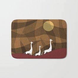 Beautiful warm giraffe family design Bath Mat
