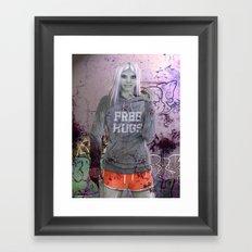 FREE HUGS Framed Art Print