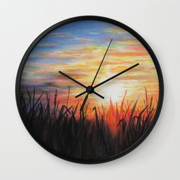 Sunset Red Wall Clock