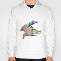 crocodile Hoodies featuring Crocodile by Jeanne Hollington
