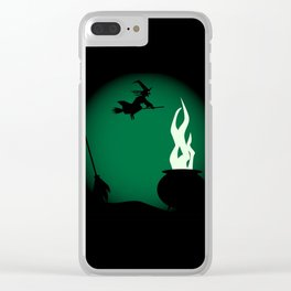 Halloween Witch Poster Background Clear iPhone Case