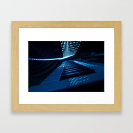 Blue Keys Framed Art Print
