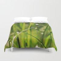grass Duvet Covers featuring Grass by Angela King-Jones