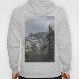 Mountains Through The Forest - Nature Photography Hoody
