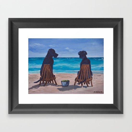 The Perfect Beach Day Framed Art Print