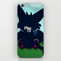 toothless iPhone & iPod Skins featuring Toothless by DaemonDeDevil