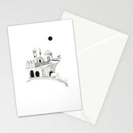 Lune noire & ours de cascade Stationery Cards
