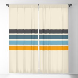Vintage Retro Stripes Blackout Curtain