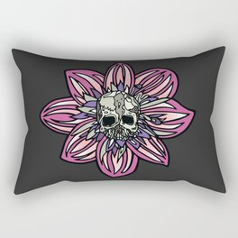 Skull Flower (pink) by Schmiedlin Rectangular Pillow