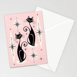 Mid Century Meow Retro Atomic Cats ©studioxtine Stationery Cards