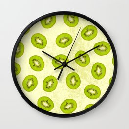 Kiwi pattern Wall Clock
