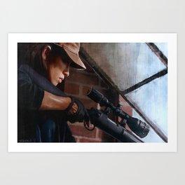 Rosita The Sniper - The Walking Dead Art Print