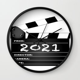2021 Clapper Board Wall Clock