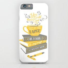 Tea & Books (C.S Lewis) - gray/yellow iPhone Case