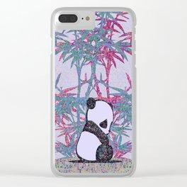 Sad Panda (paper cut) Clear iPhone Case