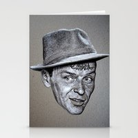frank sinatra Stationery Cards featuring FRANK SINATRA by Jahwan by JAHWAN