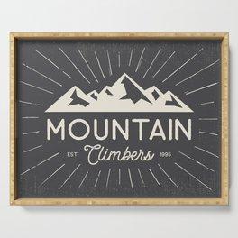 Retro Mountains Serving Tray