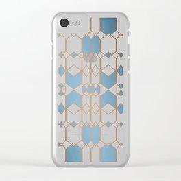 Patternbronze #1 Clear iPhone Case
