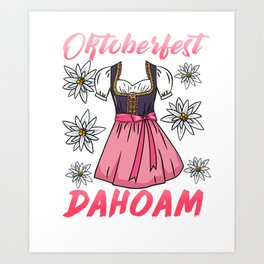 Funny Oktoberfest at home T-Shirt Art Print