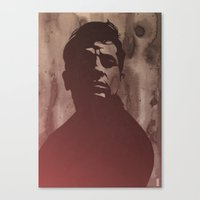 kerouac Canvas Prints featuring Jack Kerouac by Philipp Banken