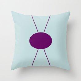 Robin's Egg Blue /Plum Envelope Throw Pillow