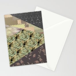 Multicolored abstract pattern . Patchwork . Stationery Cards