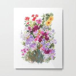 Grand Hotel Floral Metal Print
