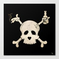 alcohol Canvas Prints featuring Cigarettes & Alcohol  by paddyroo