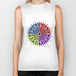 Enochi coloured mandala Biker Tank