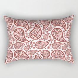 Paisley (Maroon & White Pattern) Rectangular Pillow