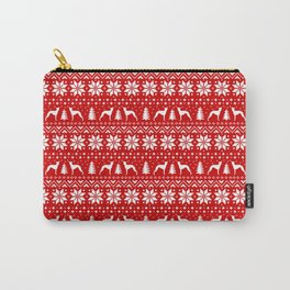 Italian Greyhound Silhouettes Christmas Sweater Pattern Carry-All Pouch