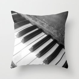 Piano Scars Throw Pillow