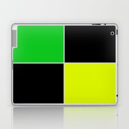 greenblack yellow squares  geometric pattern Laptop & iPad Skin