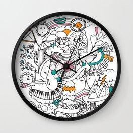 My Happy Doodle Wall Clock