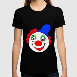 childishly Hand drawn funny clown T-shirt