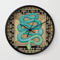 alchemy Wall Clocks featuring Alchemy by Sophia F Gibson