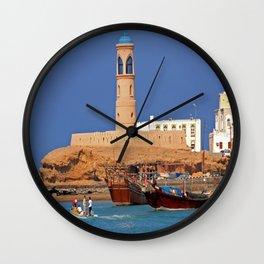 Oman Sur port Wall Clock