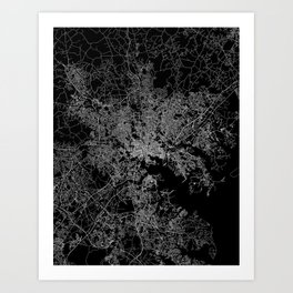 Baltimore map Maryland Art Print