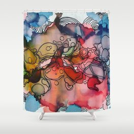 Cathartic Abstraction Shower Curtain