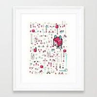 8bit Framed Art Prints featuring 8bit Love by Elisa Sassi