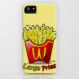 Maze Shirts: Large Fries iPhone Case