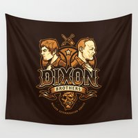 daryl dixon Wall Tapestries featuring Dixon Brothers Walker Extermination by WinterArtwork