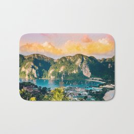 Phi Phi, Thailand #society6 #decor #buyart Bath Mat