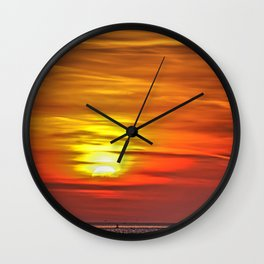 Setting Sun Wall Clock