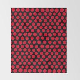 Red Apple Polka Dots Throw Blanket