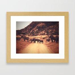 Conga Line Framed Art Print