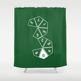 Unrolled D10 Shower Curtain
