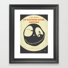 No712 My The Nightmare Before Christmas minimal movie poster Framed Art Print