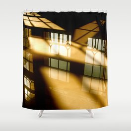 REFLECTIONS IN YELLOW Shower Curtain