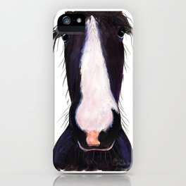 """Happy Horse """" JeFF ' by Shirley MacArthur iPhone Case"""